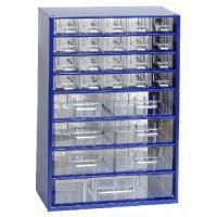 Závěsná skříňka se zásuvkami 20M/6S/1V modrá