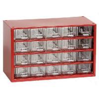 Závěsná skříňka se zásuvkami 20M červená