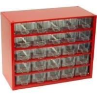 Závěsná skříňka se zásuvkami 25M červená