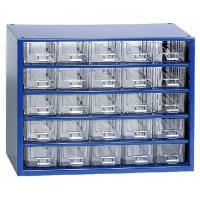 Závěsná skříňka se zásuvkami 25M modrá