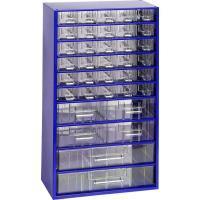 Závěsná skříňka se zásuvkami 30A/4B/2C modrá