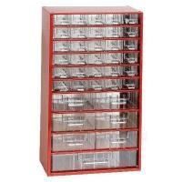 Závěsná skříňka se zásuvkami 30A/6B/1C červená