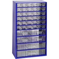 Závěsná skříňka se zásuvkami 30M/4S/2V modrá