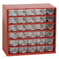 Závěsná skříňka se zásuvkami 30M červená