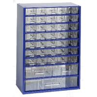 Závěsná skříňka se zásuvkami 35A/2B/1C modrá