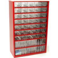 Závěsná skříňka se zásuvkami 35A/4B červená