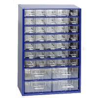 Závěsná skříňka se zásuvkami 35A/4B modrá