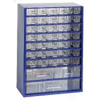 Závěsná skříňka se zásuvkami 35M/2S/1V modrá