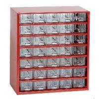Závěsná skříňka se zásuvkami 35M červená