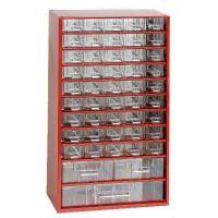 Závěsná skříňka se zásuvkami 45A/2B/1C červená