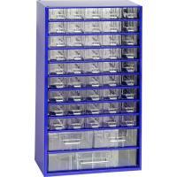 Závěsná skříňka se zásuvkami 45A/2B/1C modrá