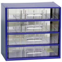 Závěsná skříňka se zásuvkami 4C modrá