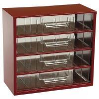 Závěsná skříňka se zásuvkami 4V červená