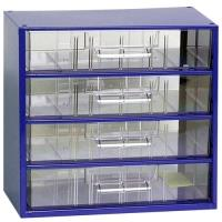 Závěsná skříňka se zásuvkami 4V modrá