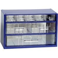 Závěsná skříňka se zásuvkami 5M/2S/1V modrá