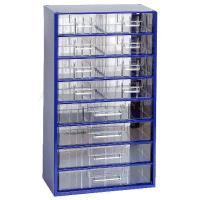 Závěsná skříňka se zásuvkami 8B/4C modrá