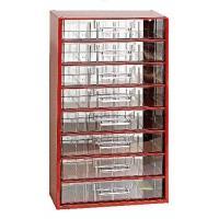 Závěsná skříňka se zásuvkami 8C červená