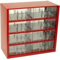 Závěsná skříňka se zásuvkami 8S červená