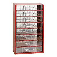 Závěsná skříňka se zásuvkami 8V červená