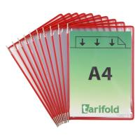Závěsné kapsy A4 TARIFOLD s úchyty červené