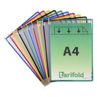 Závěsné kapsy A4 TARIFOLD s úchyty mix barev