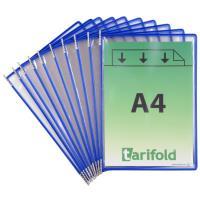 Závěsné kapsy A4 TARIFOLD s úchyty modré