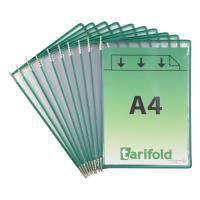 Závěsné kapsy A4 TARIFOLD s úchyty zelené