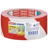 Značkovací páska TESA červeno-bílá